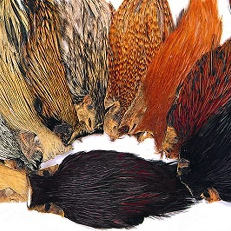 chinese cock neck cape olive hackle fly tying